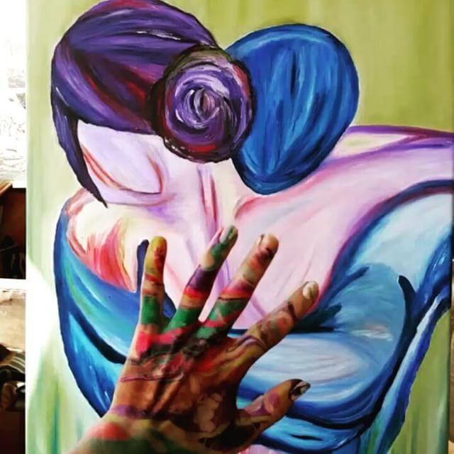 Yeni çalismam✌ve ebruli ellerim��nasıl renkli nasıl büyülü renkler❤#art#yagliboya #tablo #sanat #tual #abstractart #ask #kadin#ebruli#eller#ebrulicalismasi#renkler #firca #palet #spatula #şövale #özgürlük #kirmizi #red #sor #jin #mujer# http://turkrazzi.com/ipost/1515270602356090979/?code=BUHUpWoBuhj