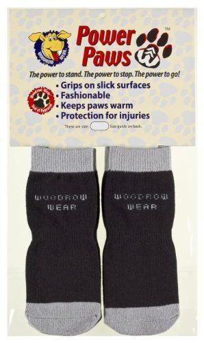 Power Paws, traction socks for dogs, Black & Gray, L, fits up to 95 lbs - http://www.thepuppy.org/power-paws-traction-socks-for-dogs-black-gray-l-fits-up-to-95-lbs/
