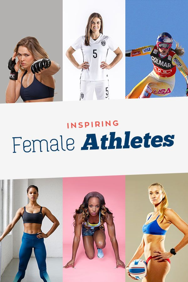 Need some motivation to do the work, overcome the hrad things? Let these female athletes from every sport inspire