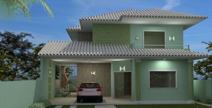 17 melhores ideias sobre casa sem telhado no pinterest - Pinturas de casas modernas ...