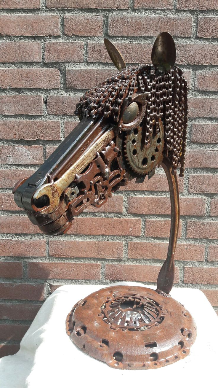 Best Metal Images On Pinterest Metal Sculptures Iron And - Salvaged scrap metal transformed to create graceful kinetic steampunk sculptures