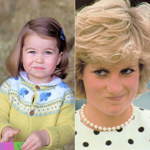 Princess Charlotte looking just like her late grandmother Princess Diana.
