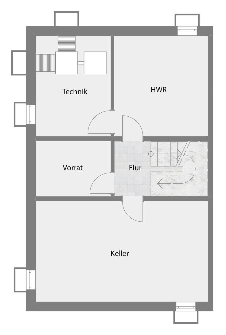 Doppelhaushälfte - Typ A - Keller/Technik/HWR/Vorrat 68,47 m