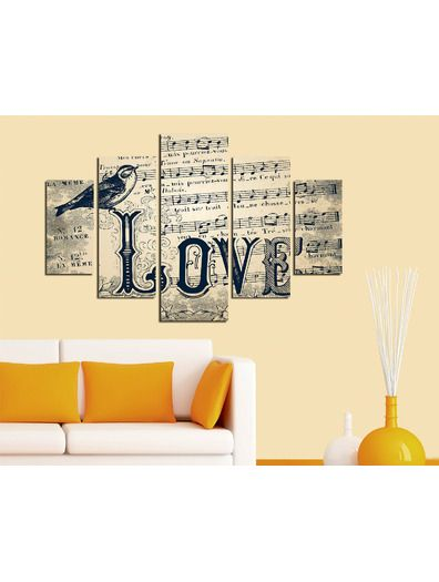 Venta privada Cuadro de 5 piezas Amor Deco Wall