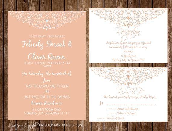 instant download printable wedding invitation reception