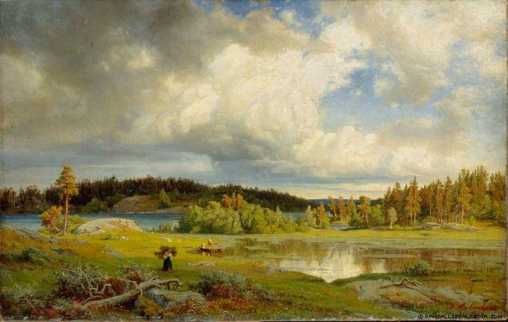 Werner Holmberg - Maisema Kurusta aamuvalaistuksessa - Kuru landscape morning light 1858 - Finland