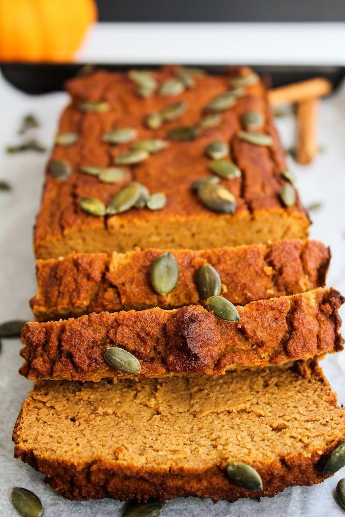 subbed 4 tsp baking powder for 1 tsp baking soda. reduced baking time by 5-10 minutes. Paleo Pumpkin Bread | www.asaucykitchen.com sub almond flour for the coconut flour