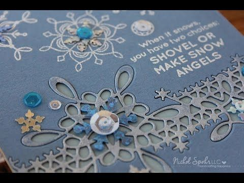 Simon Says Stamp January Card Kit Snowflake Inlay Border Card