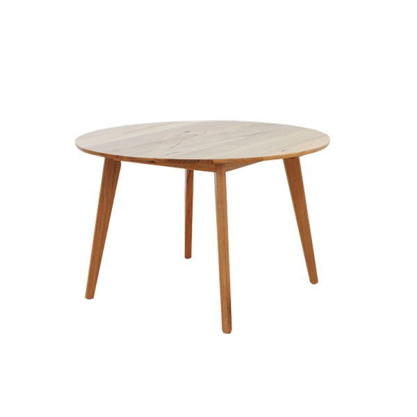 SHANNON ROUND DINING TABLE  - Photographed here in the 1200mm diamiter size and constructed using solid Stringybark. Available in other sizes.  Australian made with a Lifetime Guarantee.