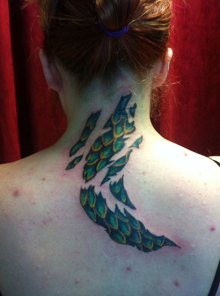 Pics For > Dragon Scales Tattoo
