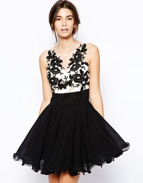 ABBEY! THIS IS IT. XX Chi Chi London Prom Dress with Applique Detail