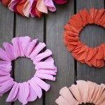 crepe paper wreaths