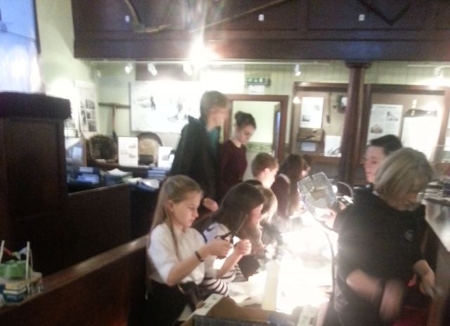 UllapoolHigh School students busy in the museum on klondyker activity