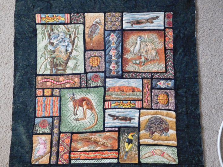 Animals of Australia Wall Hanging by AnimalhouseQuilts on Etsy