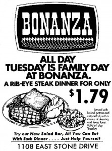 We used to eat here quite often back in the 70s....$1.79!! You couldn't even rent the fork for that now!! lol