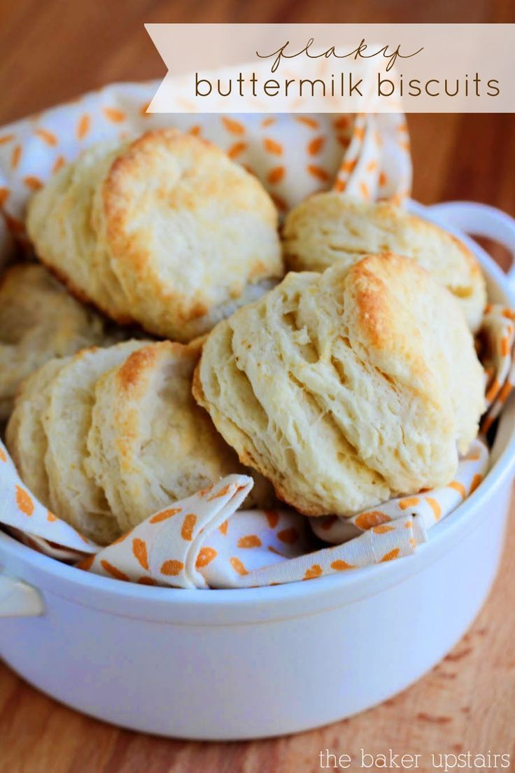 The best ever flaky buttermilk biscuits. So delicious and they just melt in your mouth! www.thebakerupstairs.com