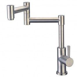 Cadell+70400+Single+Handle+Kitchen+Pot+Filler+Brushed+Stainless+Steel