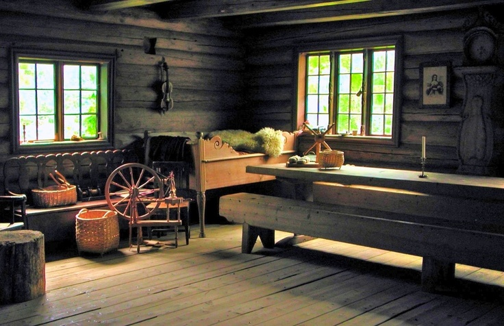 Old Norwegian farm house.