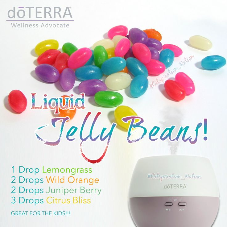 1 Drop Lemongrass 2 Drops Wild Orange 2 Drops Juniper Berry 3 Drops Citrus Bliss  GREAT FOR THE KIDS!!!! #doterra #liquidjellybeans #jellybeans