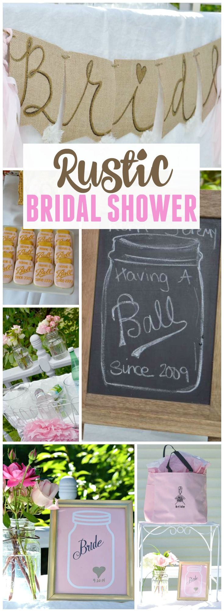 Having a Ball Since 2009 was the theme of this rustic bridal shower! See more party ideas at CatchMyParty.com!