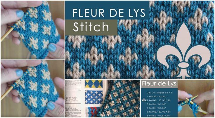 Knit the FLEUR DE LYS Stitch