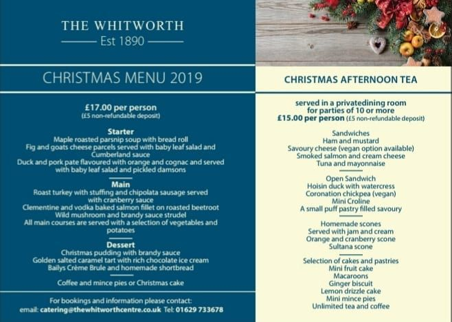 The Whitworth Centre Are Now Taking Bookings For Christmas