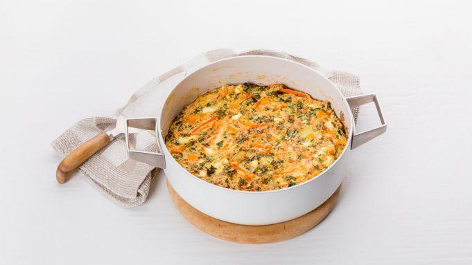 Kijk wat een handige video op Allerhande! Frittata-soufflé met zoete aardappel