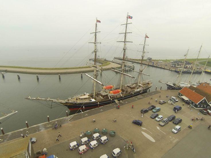 De Stad Amsterdam in de haven van Oudeschild tijdens Sail Den Helder 2013