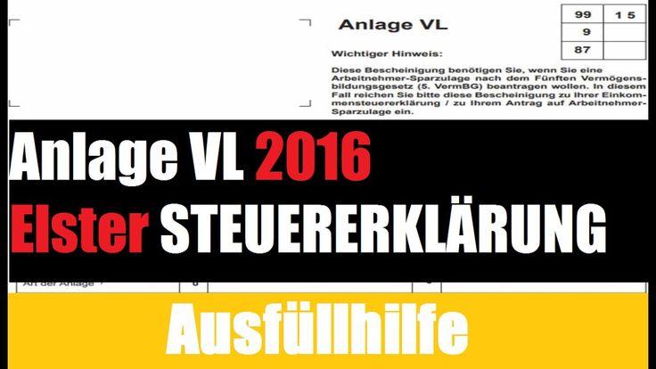 Steuererklärung 2016: Wie füllt man die Steuererklärung Anlage VL 2016 mit Elster aus? Das erfahren Sie hier:
