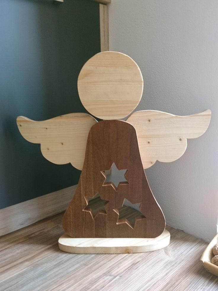 Engel Aus Holzresten Holz Basteln Weihnachten Weihnachtsdeko