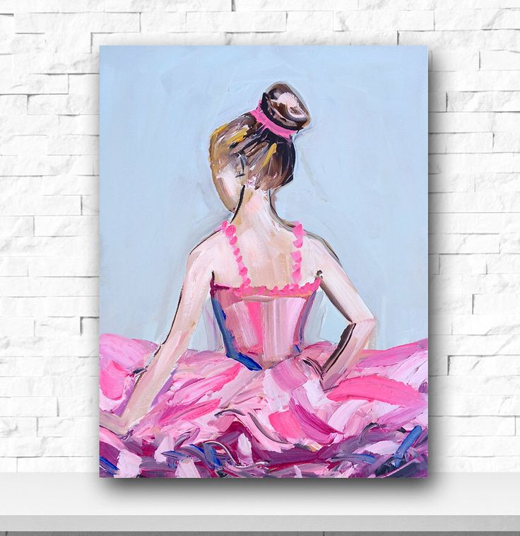 Ballerina Painting, acrylic painting, dancer illustration, wall decor, devinepaintings by DevinePaintings on Etsy https://www.etsy.com/listing/248630508/ballerina-painting-acrylic-painting