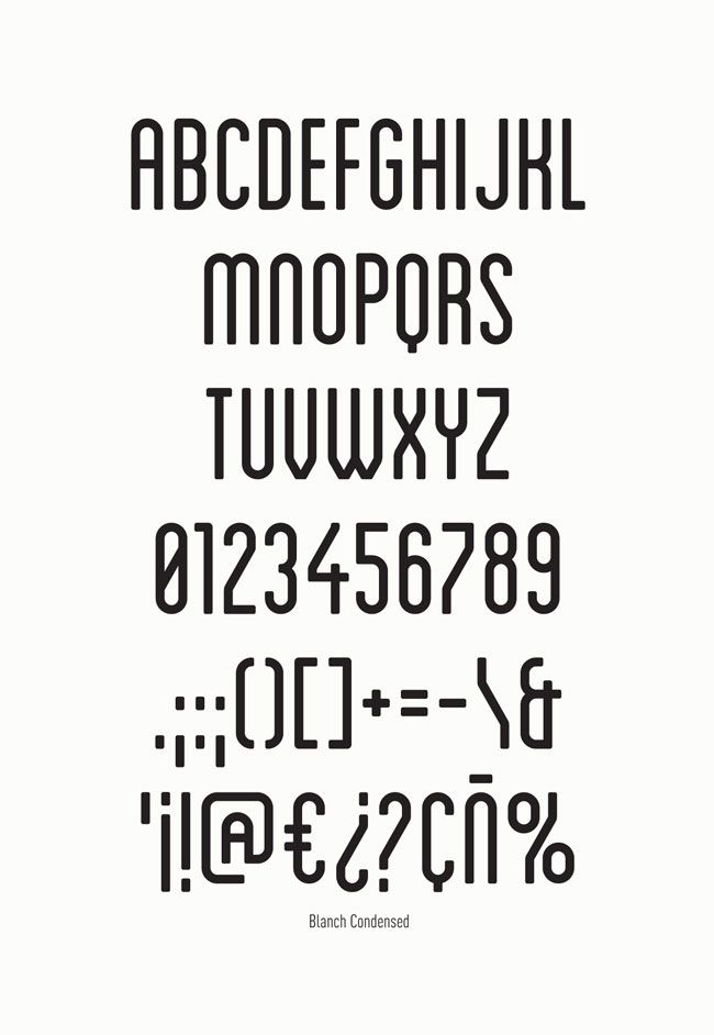 Blanch font family