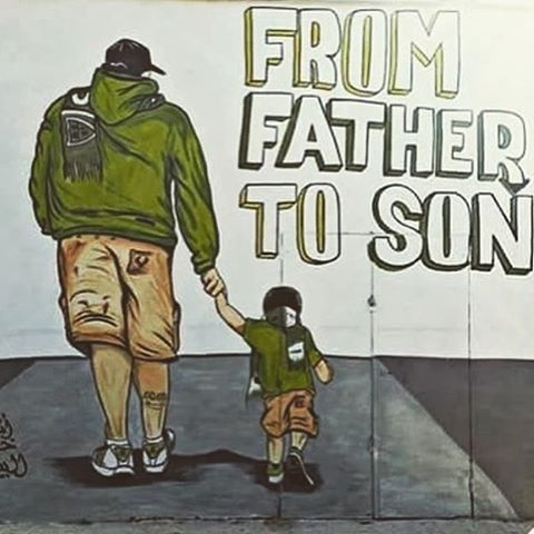 From father to son! #ultras #tifo #pyro #acab #hooligans #uefamafia #ultrasstyle