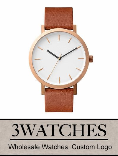 Thehorse Wholesale Watches. Custom Logo. Brushed Rose / Walnut Leather. Visiting: http://www.3watches.com/horse-watch/