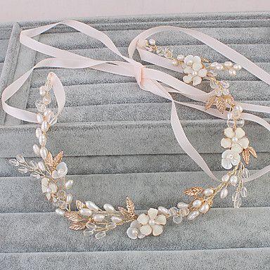 Mujer Perla Celada-Boda Ocasión especial Casual Oficina Al Aire Libre Bandas de cabeza 1 Pieza 5527356 2017 – $34.99