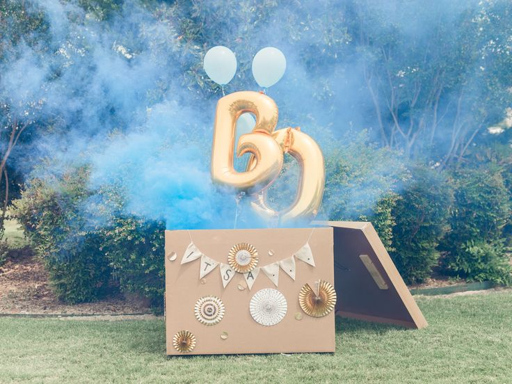 It's a Boy Smoke Bomb Gender Reveal Party | The Cake by Hannah