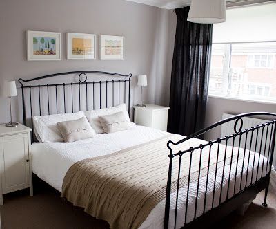 Lovely bedroom makeover using Dulux Perfectly Taupe