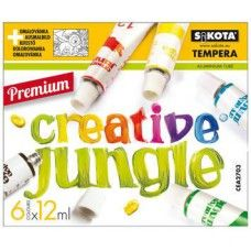 6 színű tempera festék 12 ml alumínium tubusban - Creative Jungle - Tempera készlet - 499Ft