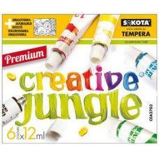 6 színű tempera festék 12 ml alumínium tubusban - Creative Jungle - Tempera készlet - 499Ft - Tempera festék - Tempera készlet