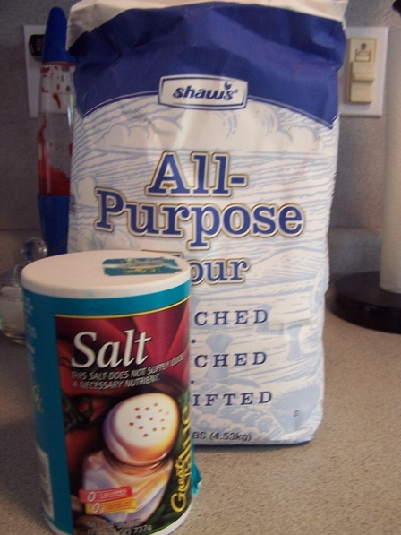 Ingredients for Salt and Flour Dough - Susan Caplan