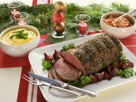 Rezept: Weihnachtlicher Rinderbraten