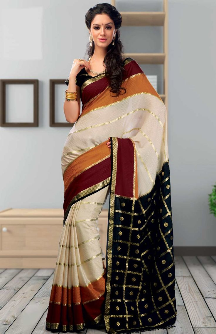 Shop Textile India Fashion Vogue Harinakshi Crape Solid #DesignerSaree - G-9 online at lowest price in USA and purchase various collections of Designer sarees in Textile India Fashion Vogue brand at grabmore.com the best #onlineshopping store in USA.