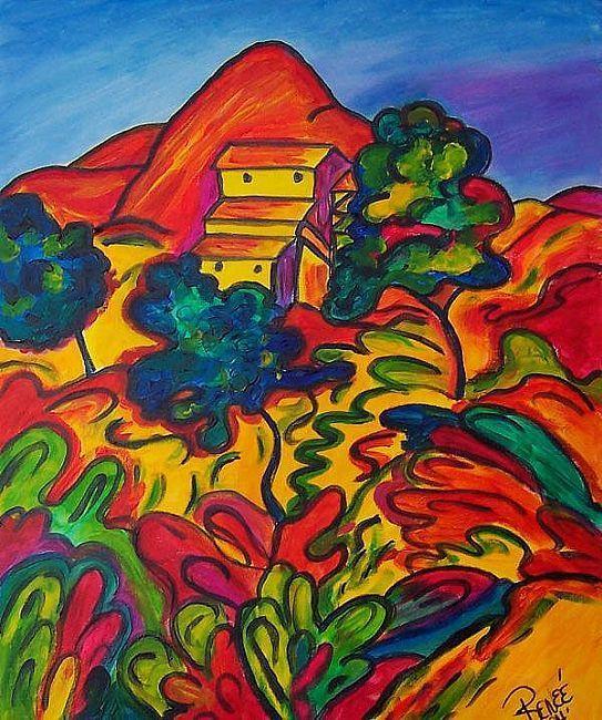 post impressionist art | ... Landscape La Ciotat - by Renée Gandy ...
