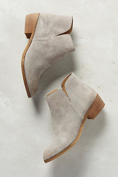 Love these grey booties. Probably too narrow for me in the toe. Splendid Hamptyn Booties #anthropologie