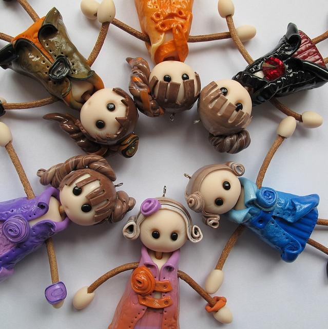 Polimer clay dolls