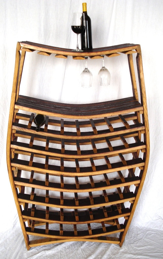 Big Daddy Wine Barrel Rack - 100% recycled Napa barrels - Serious Wine Lover Size. $700.00, via Etsy.