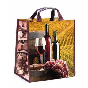 Leuke herbruikbare wijnflestas voorzien van een wijndessin! http://www.decoma.nl/herbruikbare-wijnflestas-6-flessen.html