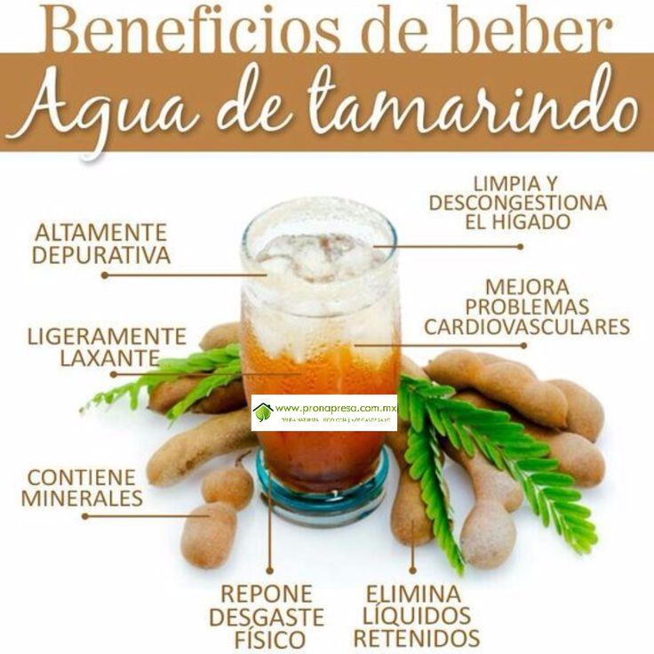 Beneficios de beber agua de tamarindo  Nutricin y