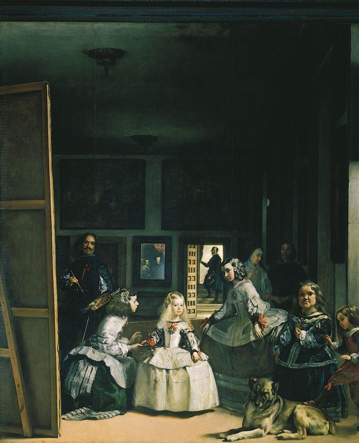 Las Meninas de Diego de Velazquez, fascinante la perspectiva, los 3 planos que hay en la obra, y la forma tan detallada y exacta como se pinto a si mismo, GRANDE DIEGO!