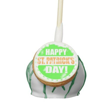 Vintage Happy Saint Patricks Day Cake Pops - click/tap to personalize and buy
